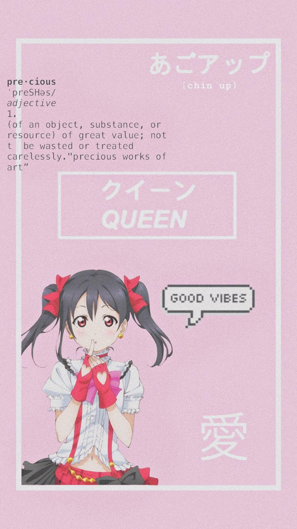 wallpapers aesthetic pink cute kawaii nico yazawanico