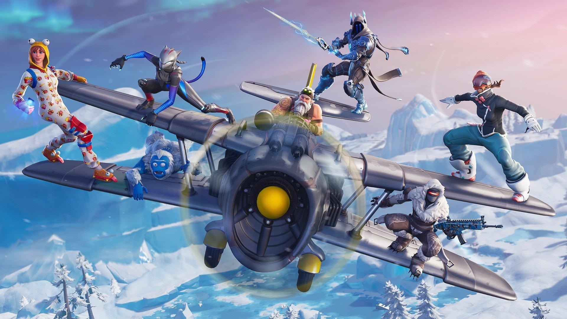 Fortnite Season 7 Adds Snowy Map Terrain, Planes, and Weapon