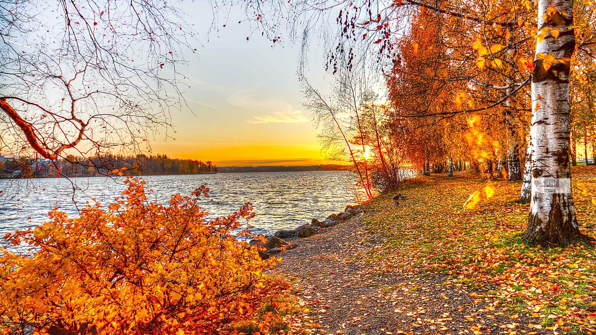 Autumn Landscape River Wallpapers Wallpaper Cave