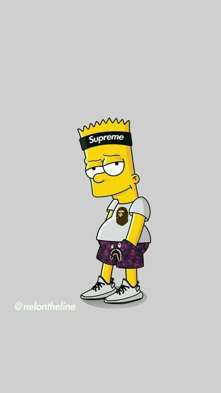 Supreme Bart Simpson Wallpapers - Wallpaper Cave