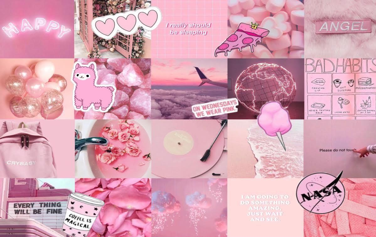 Pink Aesthetic Collage Wallpapers Wallpaper Cave