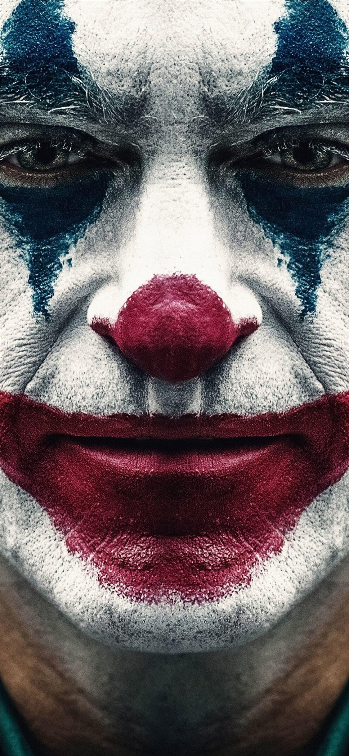 joker 2019 joaquin phoenix clown iPhone X Wallpapers Free