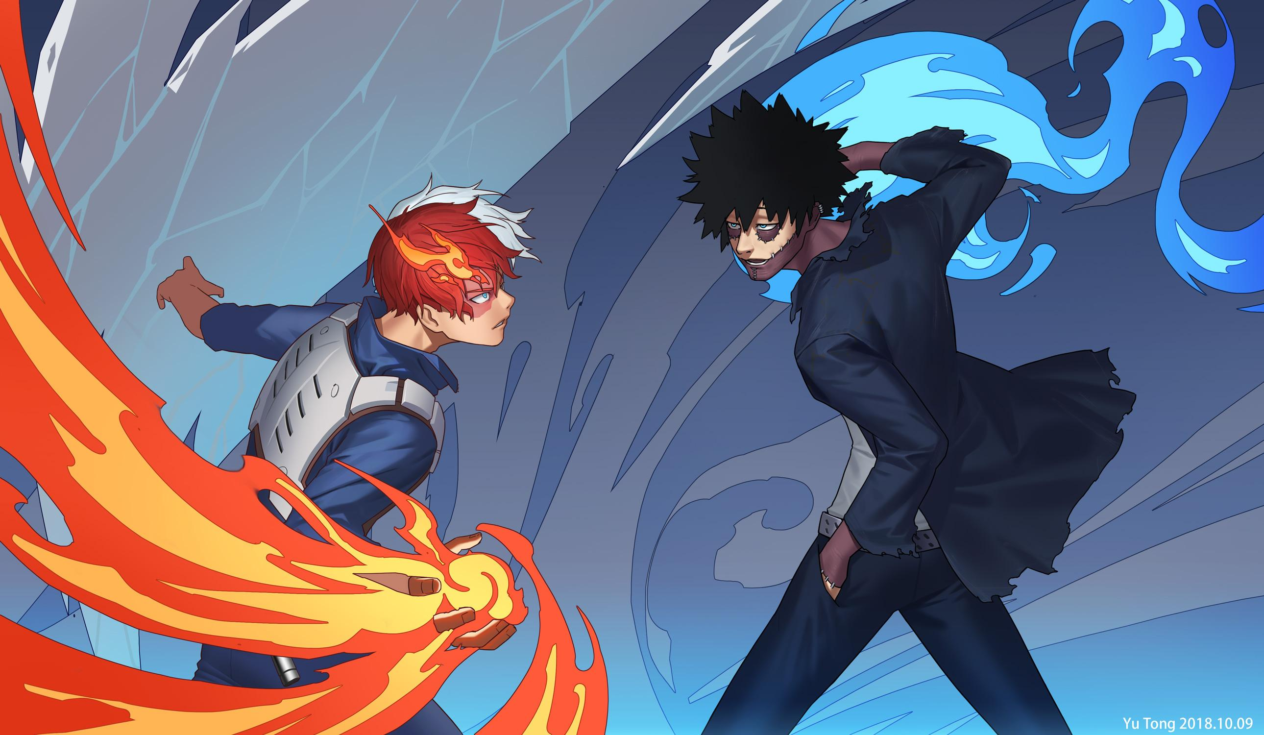 Todoroki And Dabi Wallpapers Wallpaper Cave