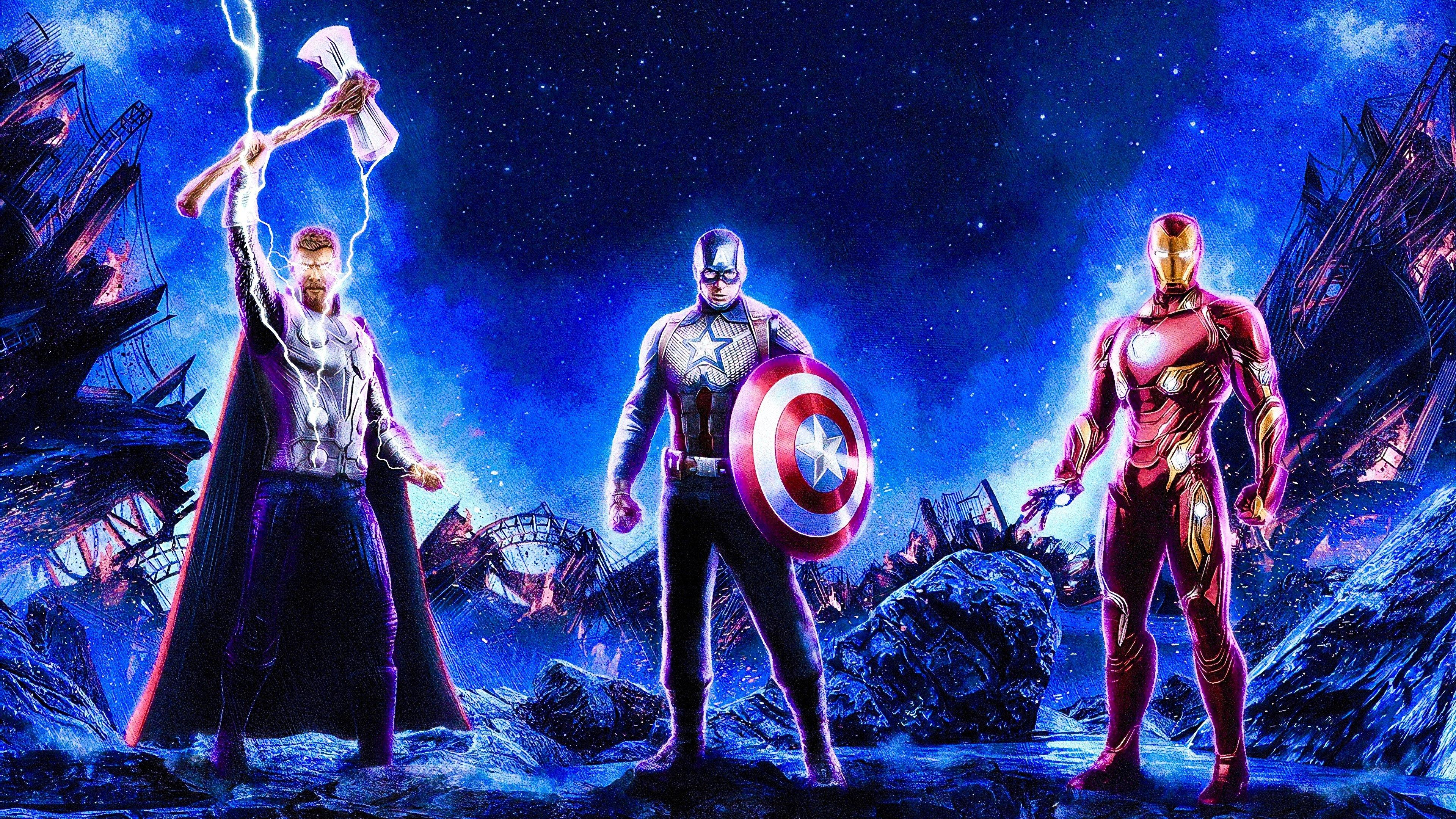 Captain America Iron Man Thor Wallpapers Wallpaper Cave