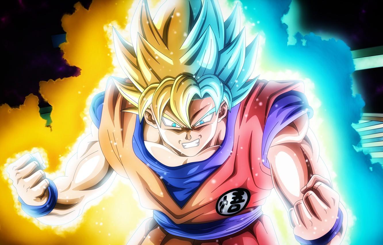 Blue Wallpaper Super Saiyan Goku