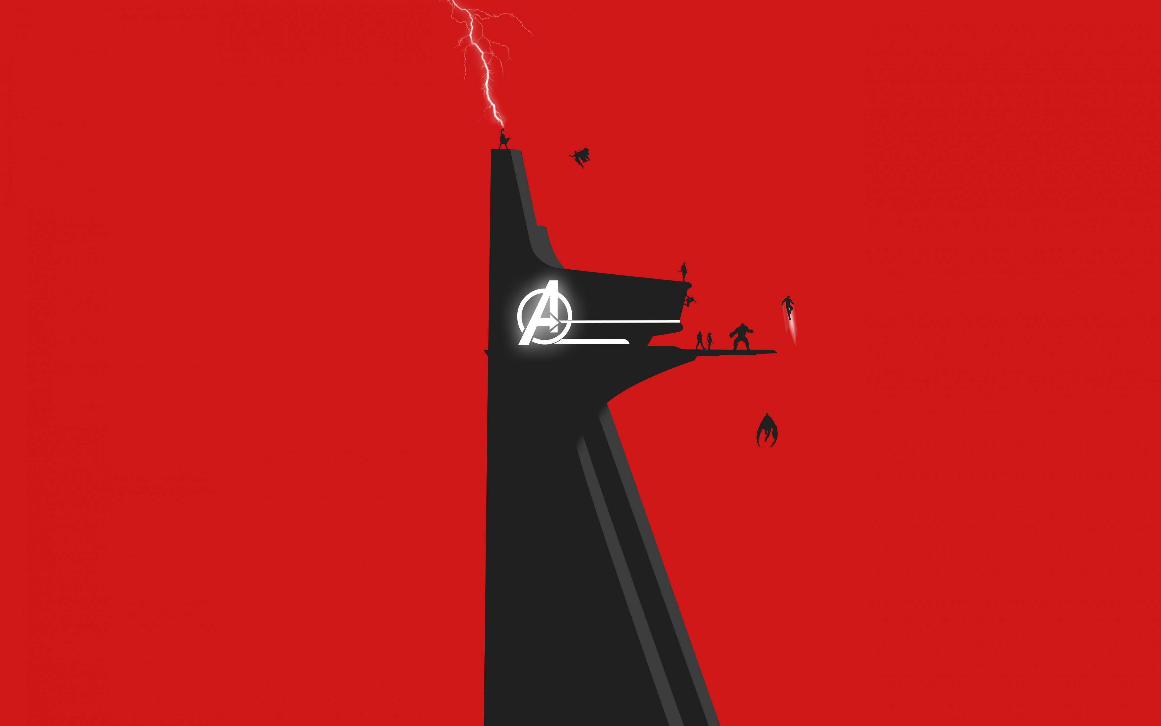 Ultra Hd Avengers Minimalist Wallpaper