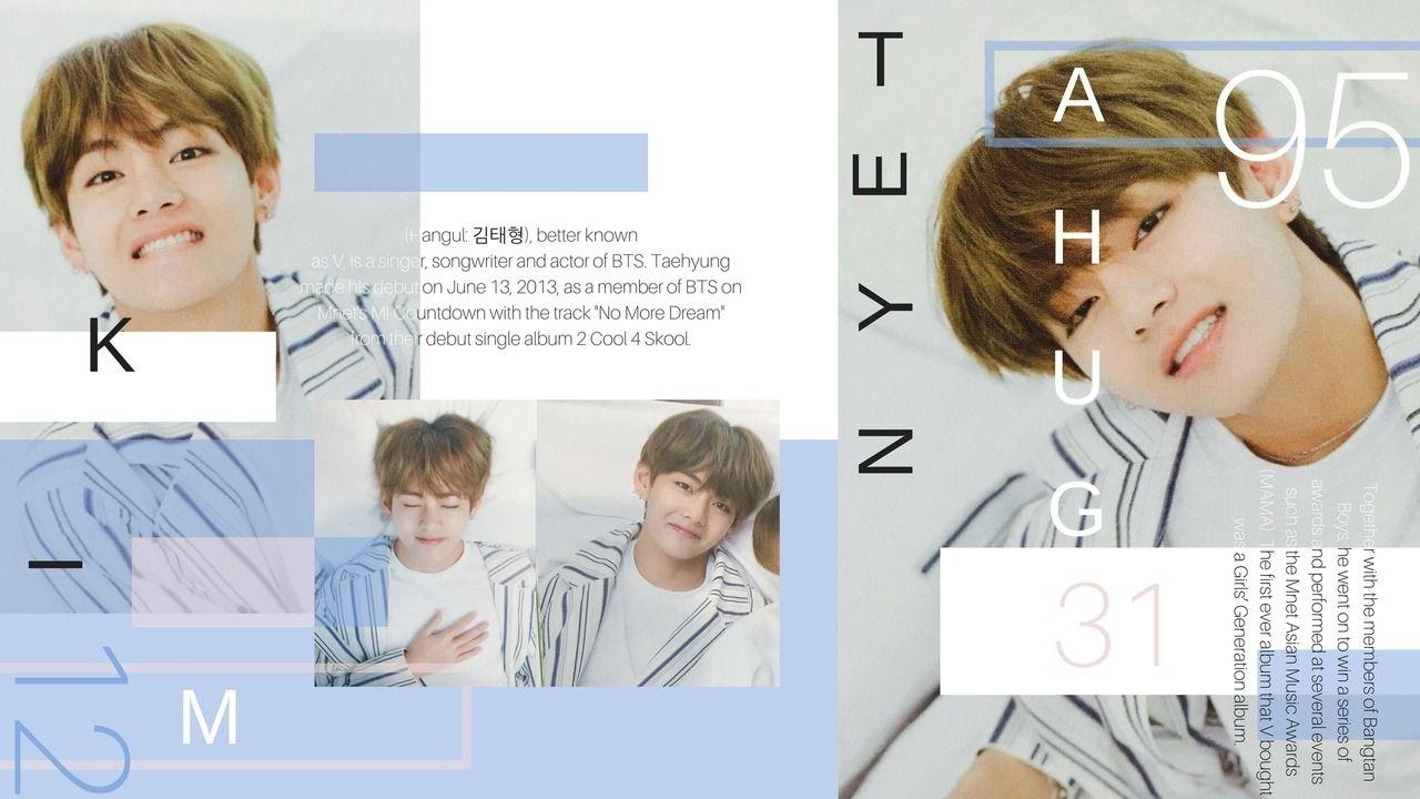 Taehyung Aesthetic Laptop Wallpapers Wallpaper Cave