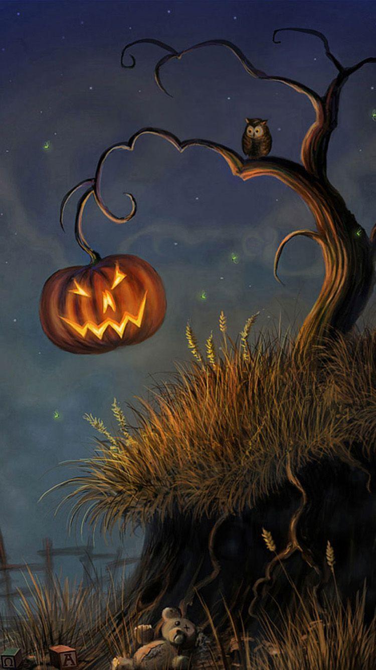 Owl Halloween Wallpapers Wallpaper Cave