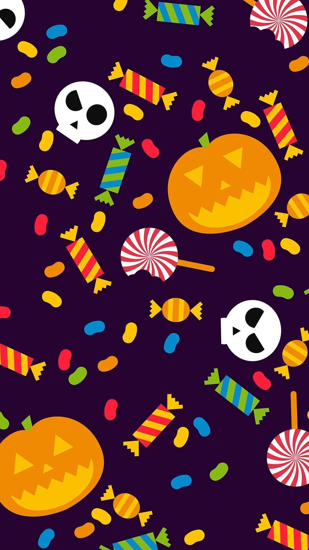 63+ Kawaii Halloween Wallpapers