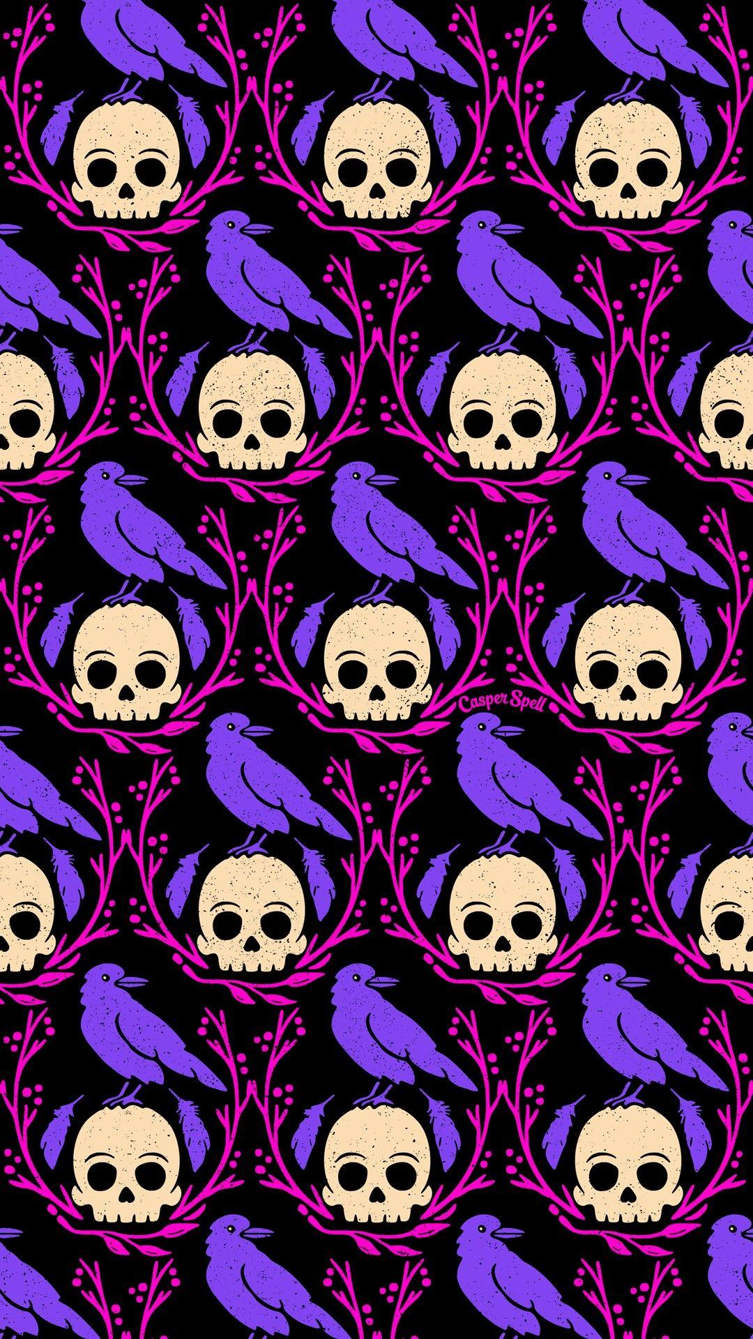 Pink And Purple Halloween Wallpapers Wallpaper Cave