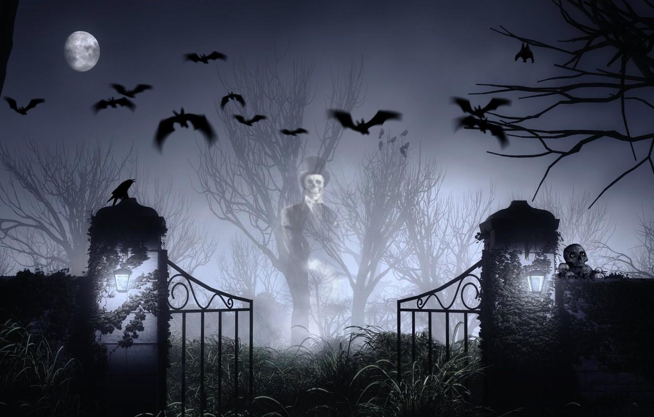Halloween Cemetery Wallpapers Wallpaper Cave