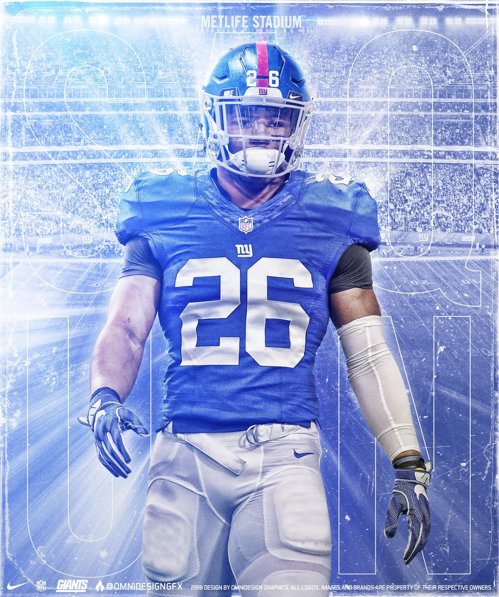 Saquon Barkley New York Giants Wallpapers Wallpaper Cave