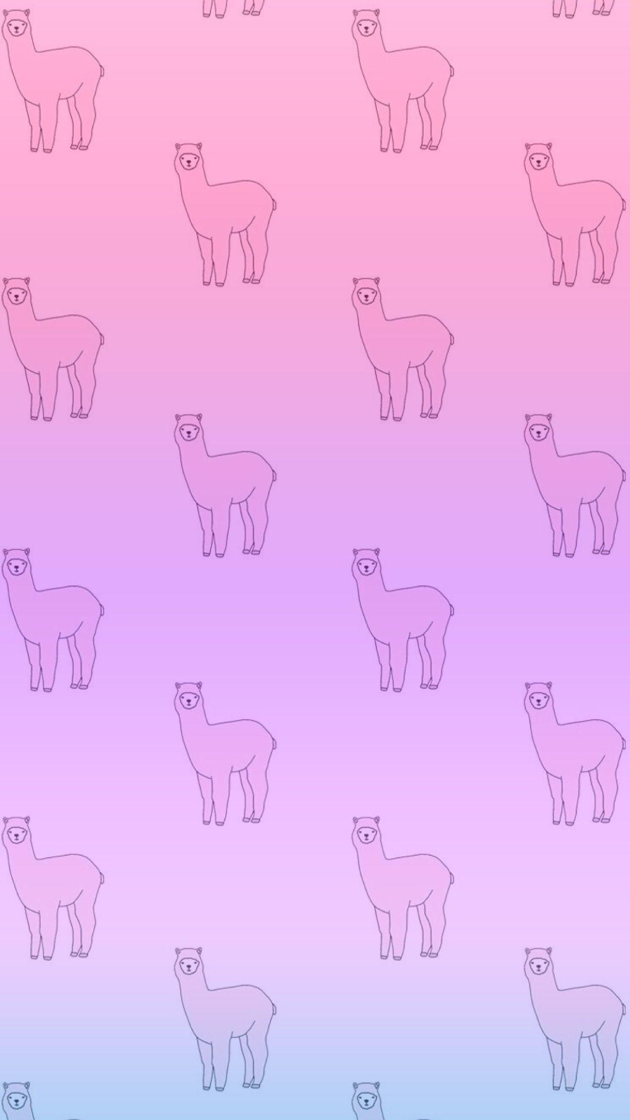 Cartoon Alpaca Wallpapers Wallpaper Cave