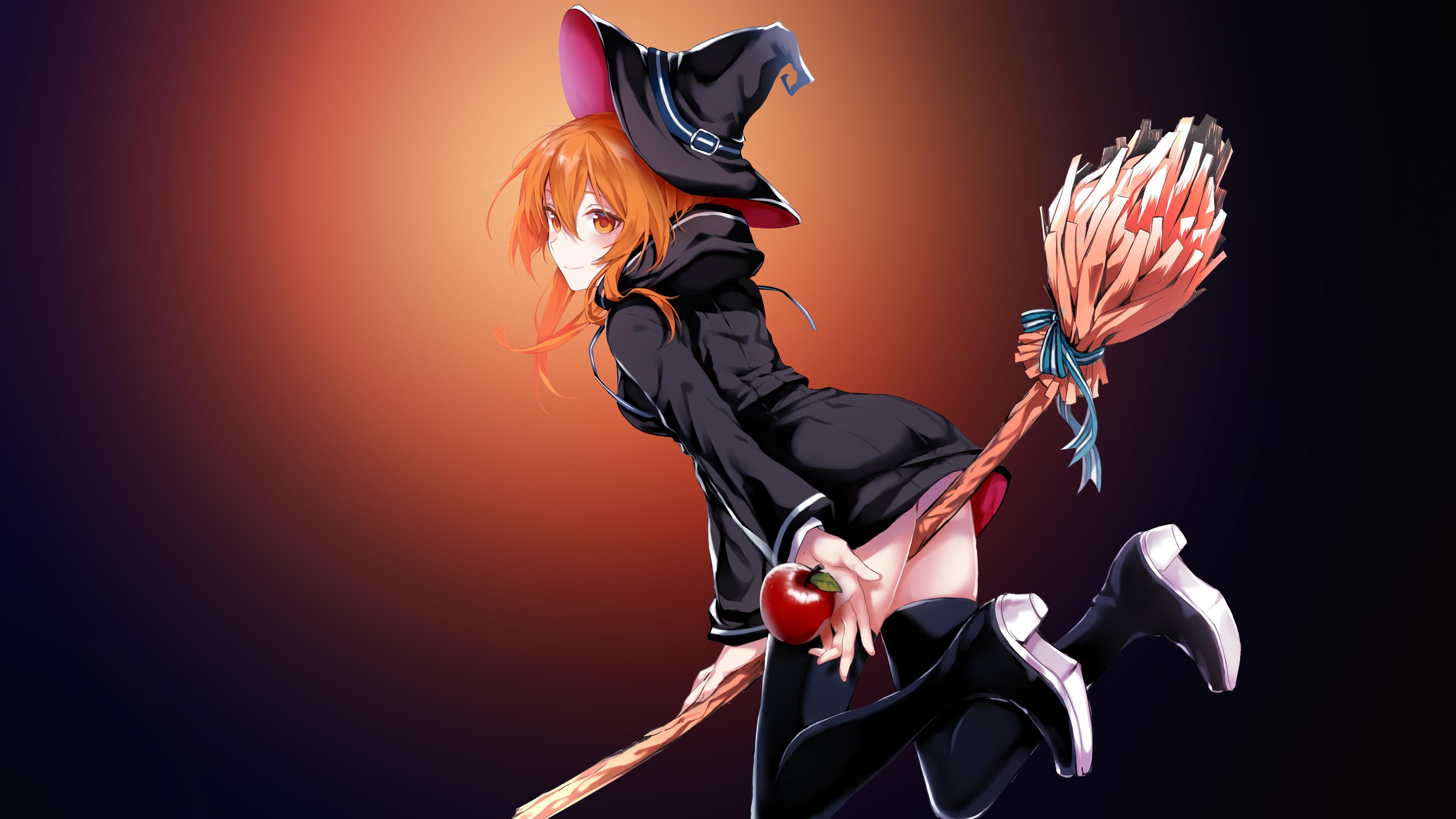 Wallpapers Magic girl, Halloween costume, Flying broomstick