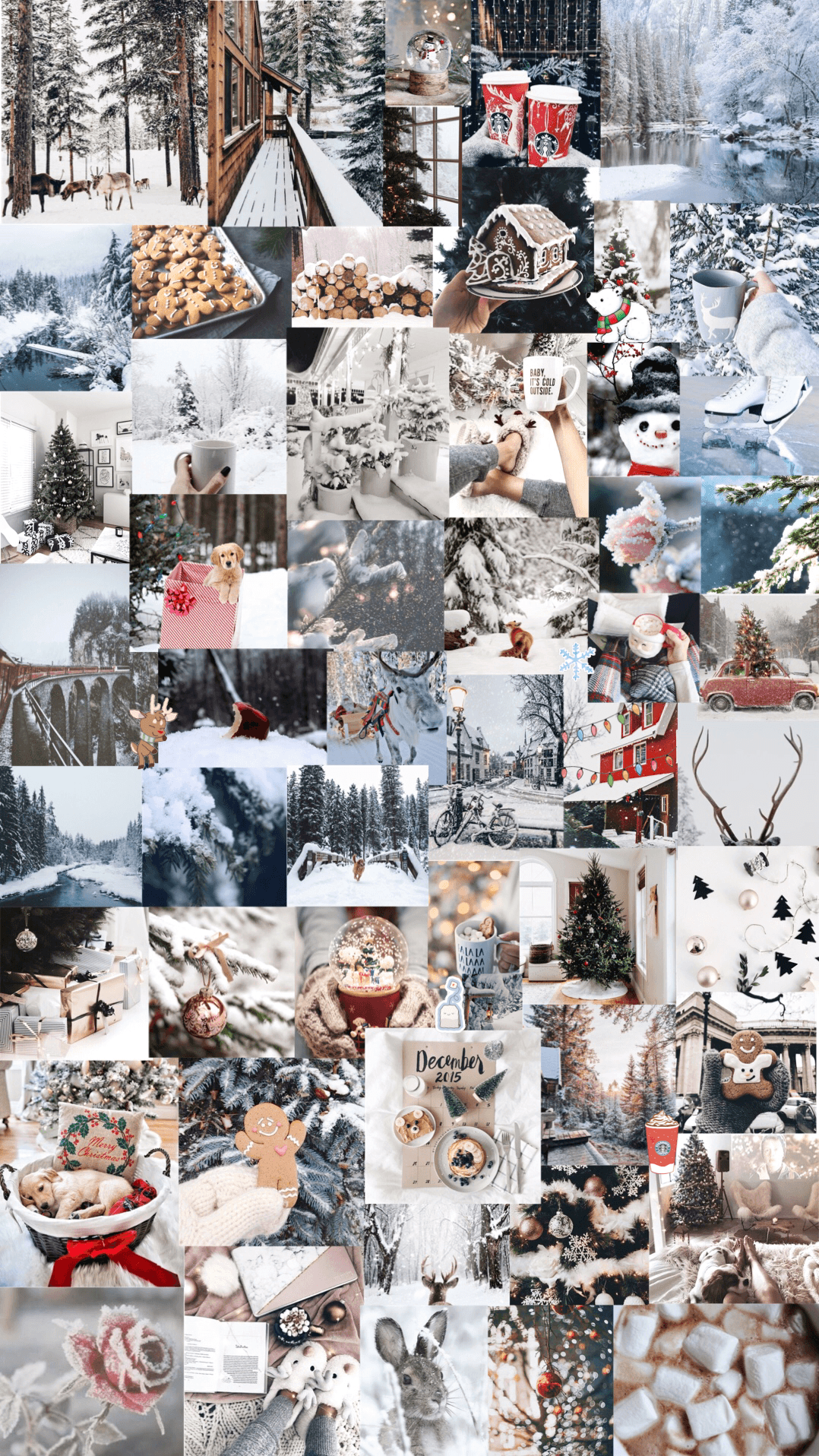Christmas Collage Wallpapers Wallpaper Cave