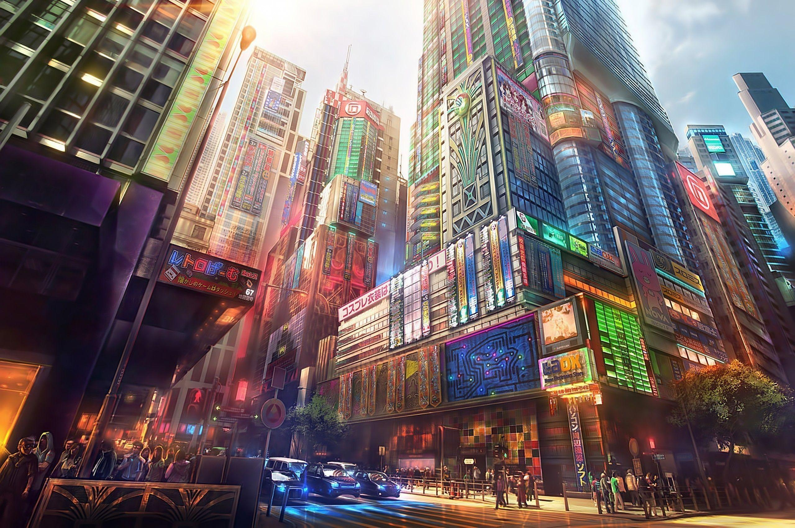 City Japan Anime Wallpapers Wallpaper Cave