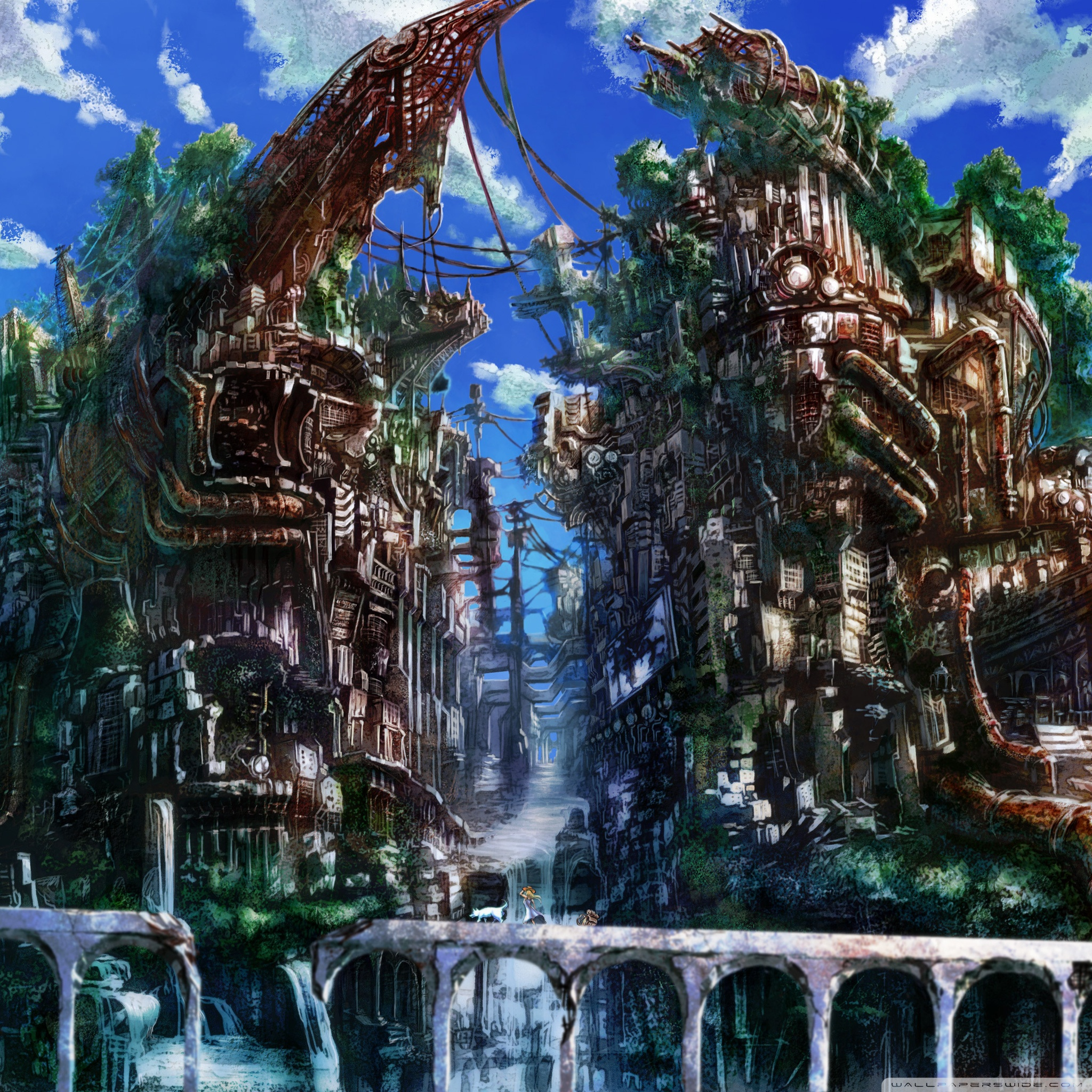 Anime City Uhd Wallpapers Wallpaper Cave