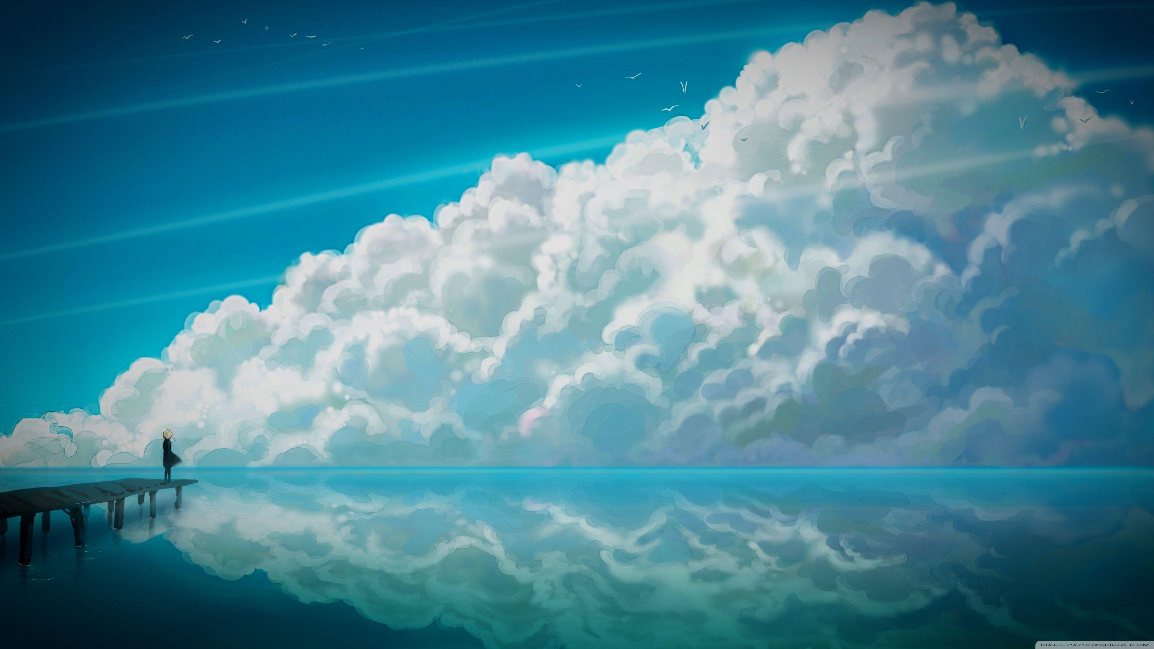 Ultra Hd Desktop Anime Sky Wallpapers - Wallpaper Cave