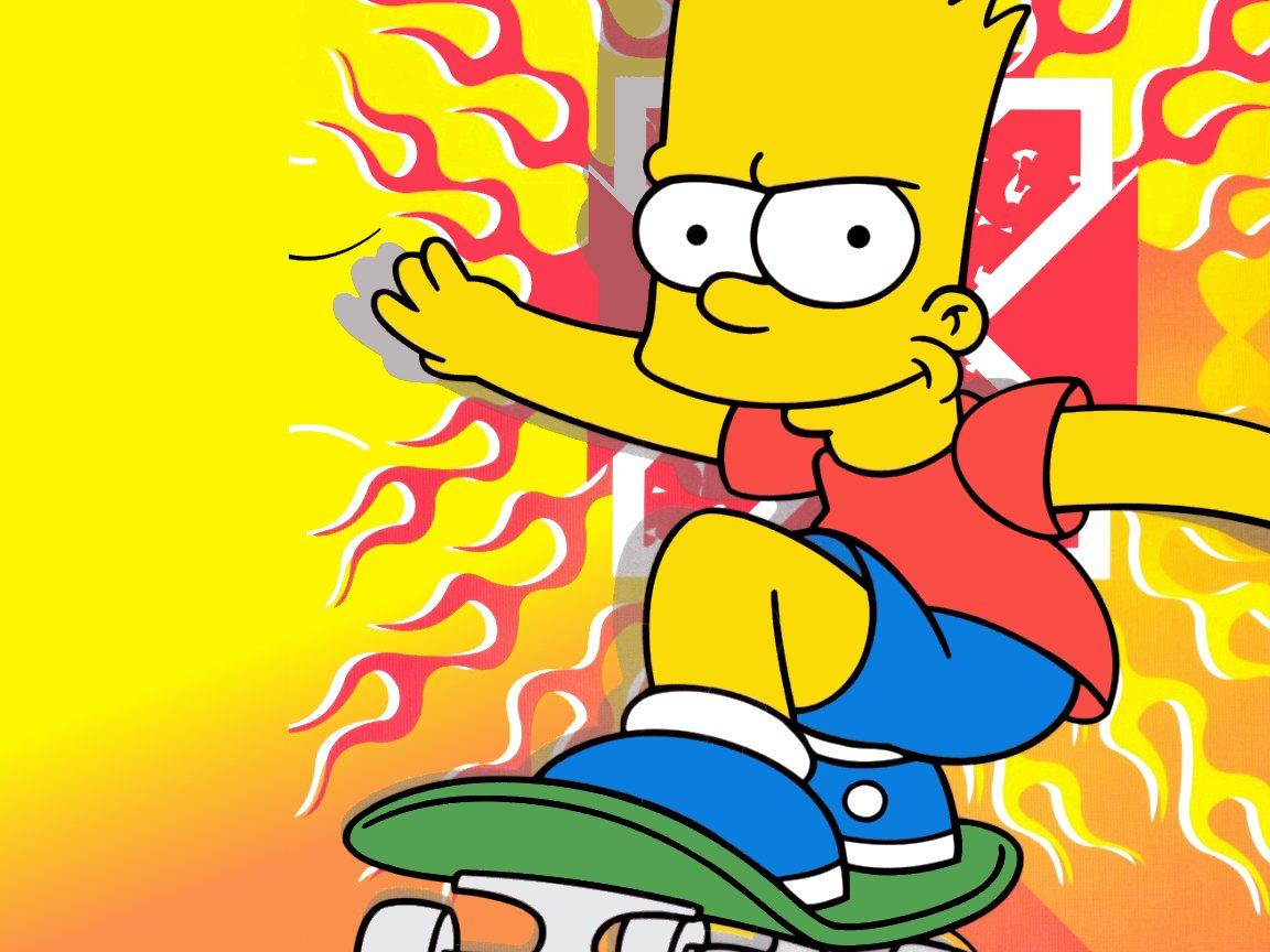 bart simpson with wide open mouth with red tongue in white