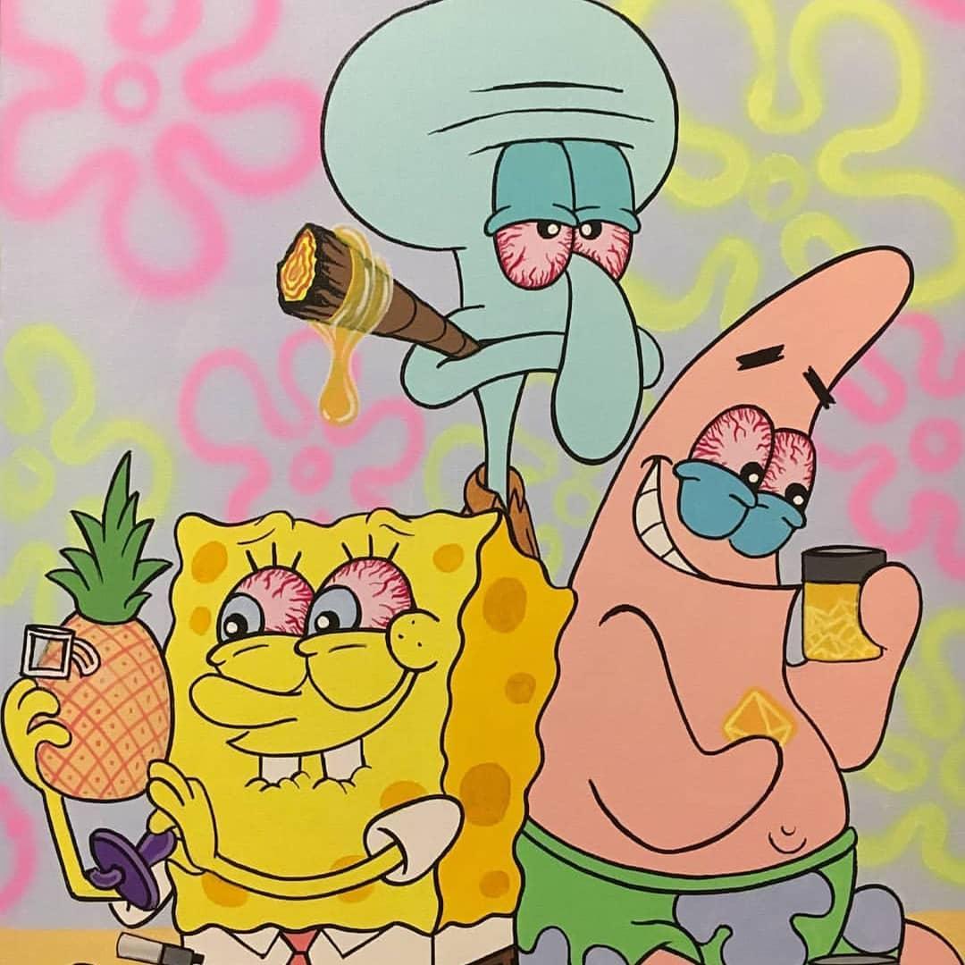 Weed Spongebob Wallpapers Wallpaper Cave
