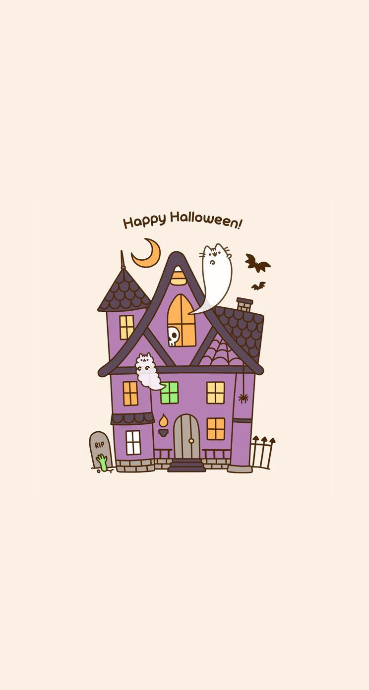 Pusheen Halloween Wallpapers Wallpaper Cave