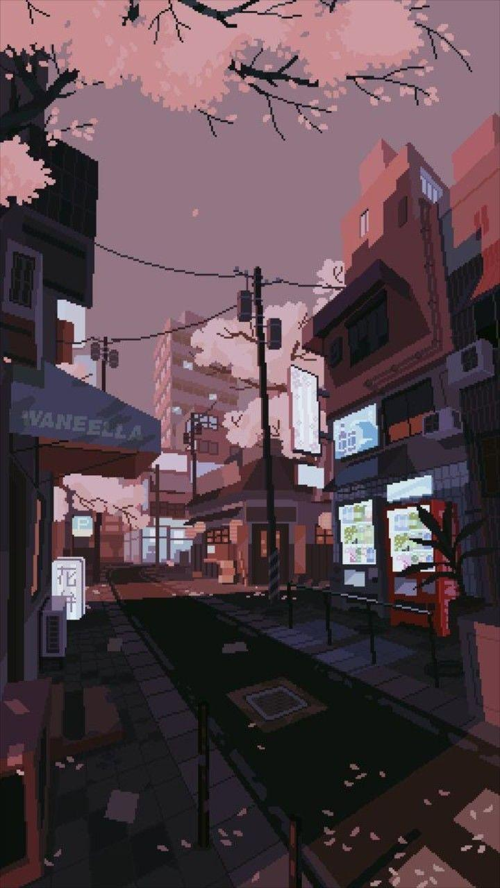 Anime Aesthetic Street Wallpapers Wallpaper Cave