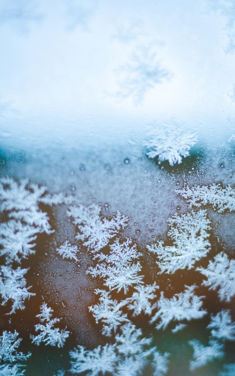 Download 800x1280 Snowflakes, Macro, Photography, Winter