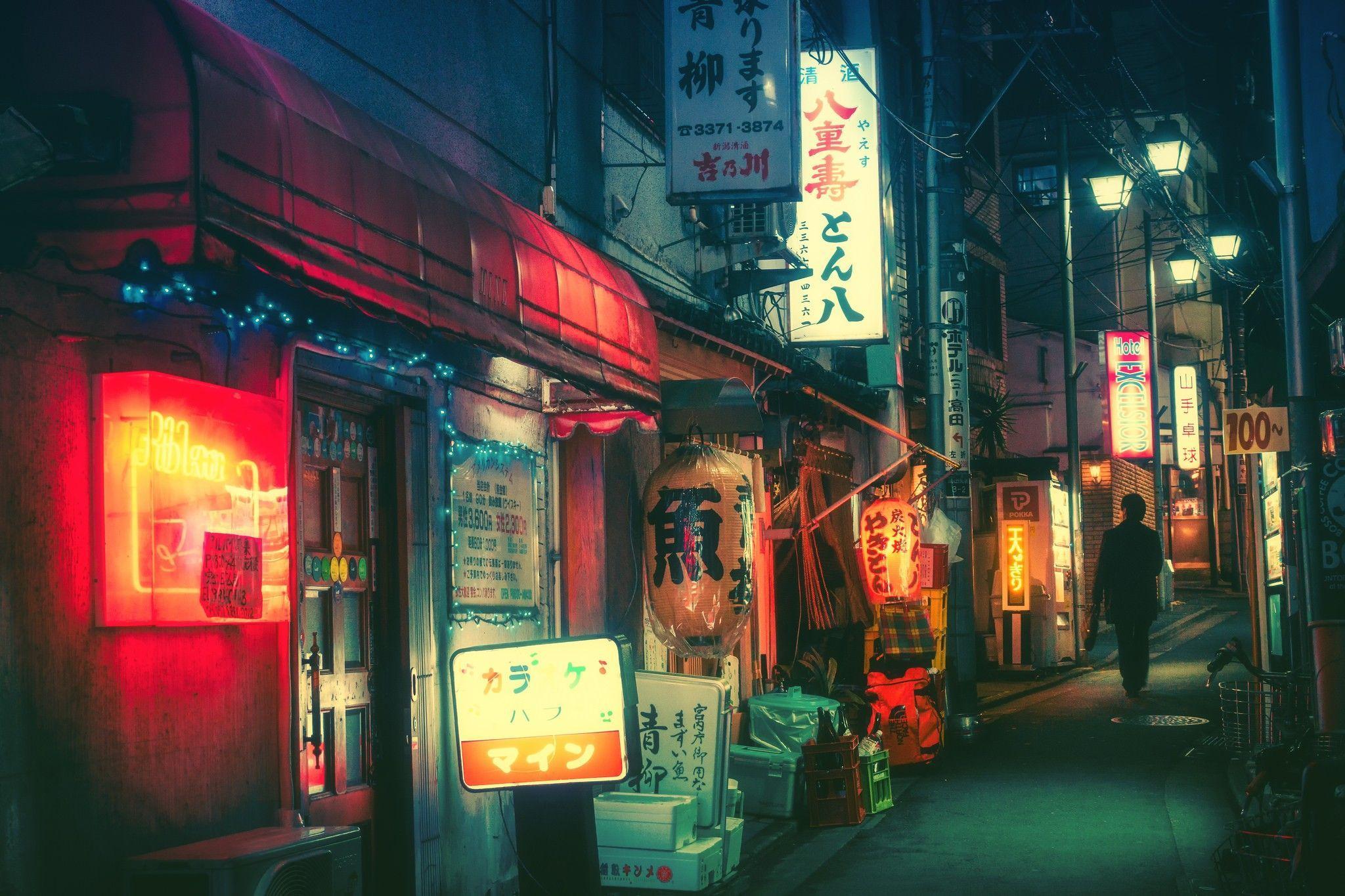 Aesthetic Japanese Nightlife Wallpapers Wallpaper Cave