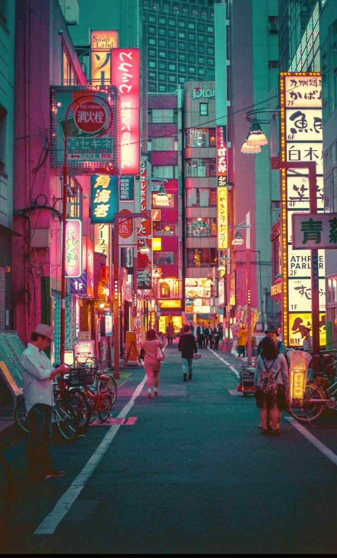 Japan Street Aesthetic Wallpapers Wallpaper Cave