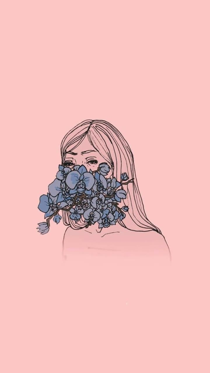 Girl Flower Aesthetic Wallpapers - Wallpaper Cave