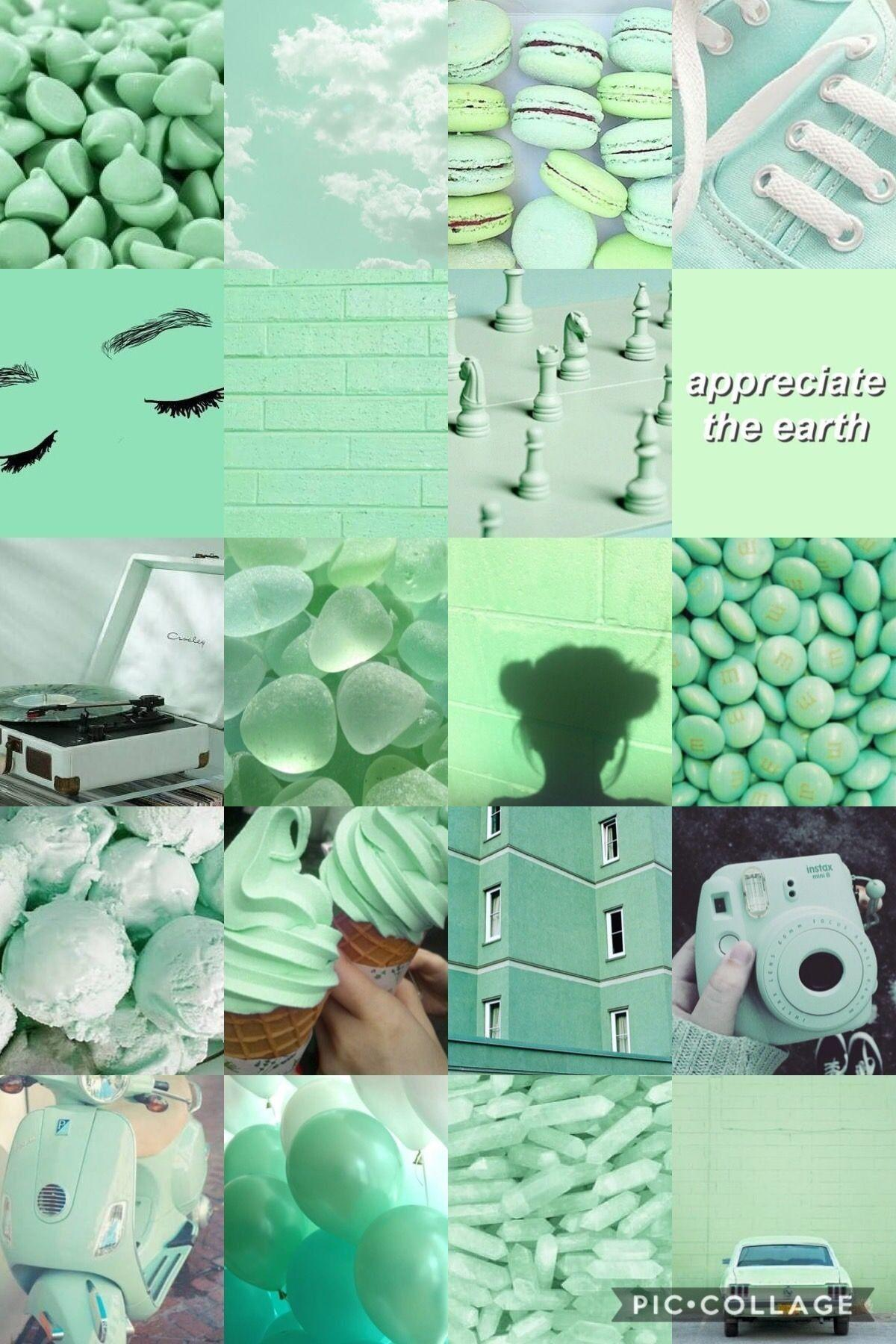 Pastel Green Aesthetic Wallpapers Wallpaper Cave