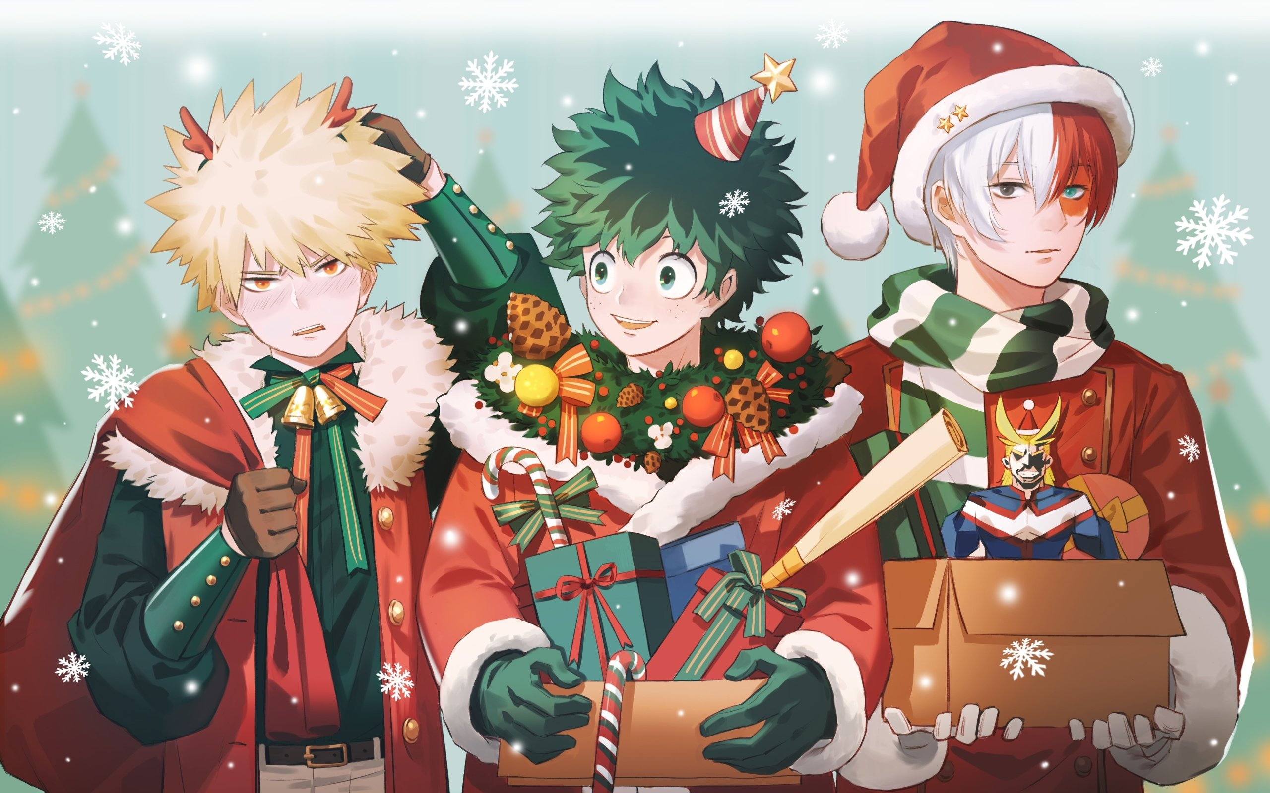 My Hero Academia Christmas Wallpapers Wallpaper Cave