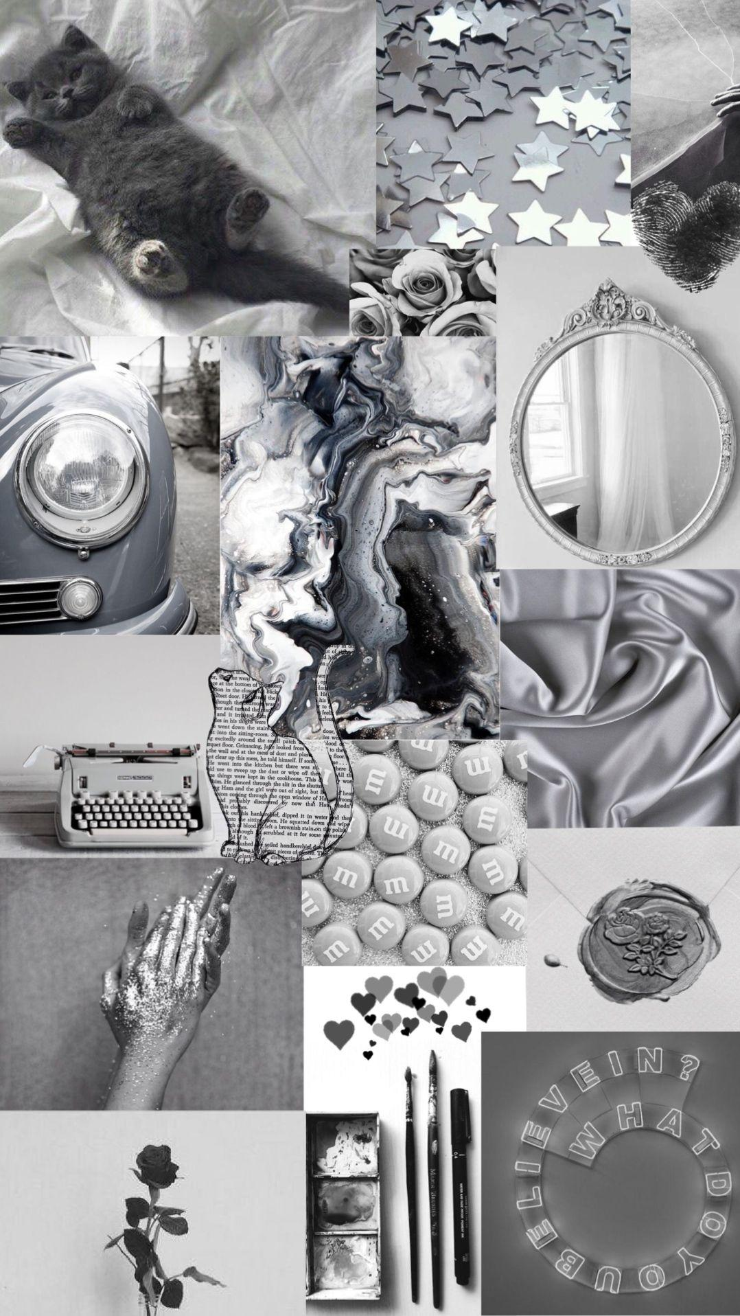 Grey Aesthetic Collage Wallpapers