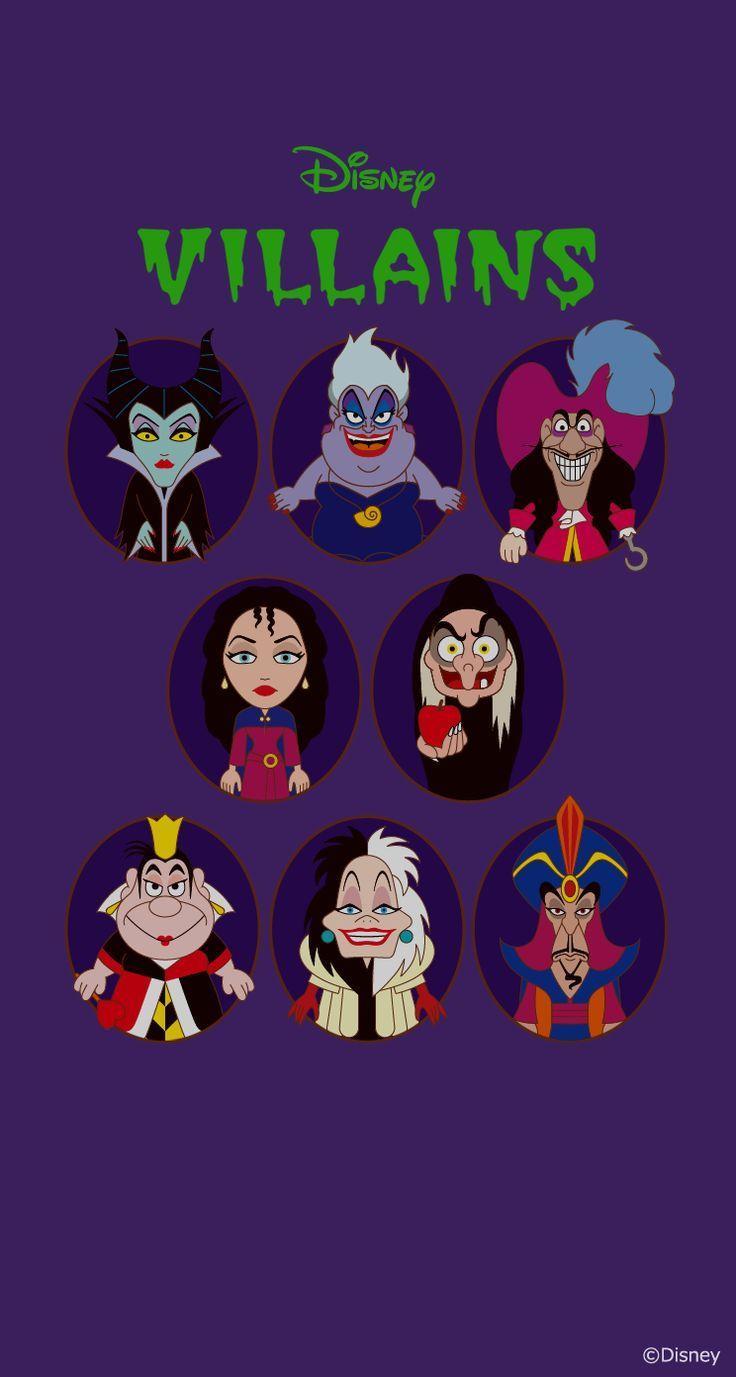 Kawaii Disney Villains Wallpapers Wallpaper Cave