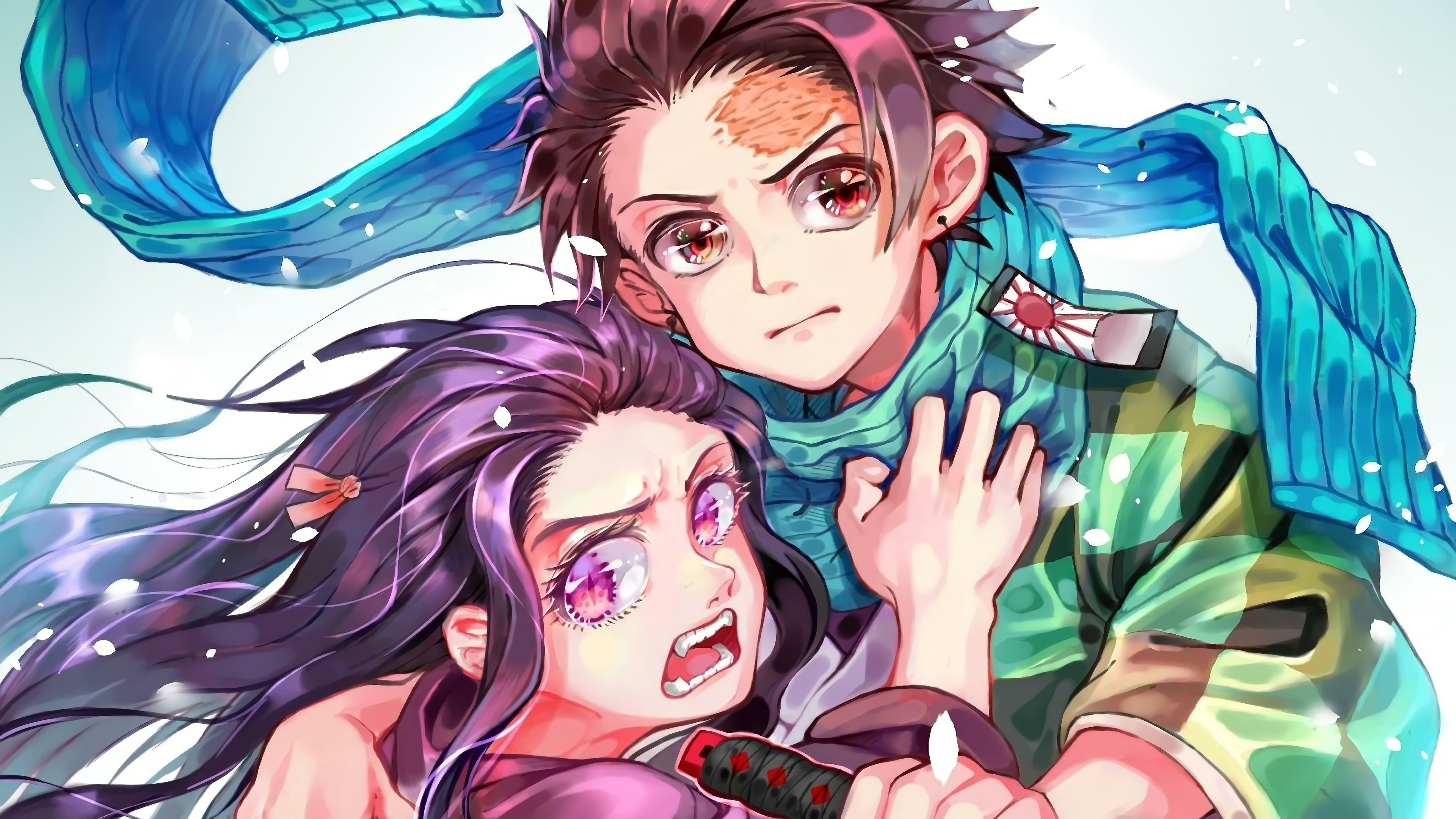 Tanjirou and Nezuko Kimetsu No Yaiba 4K Wallpapers