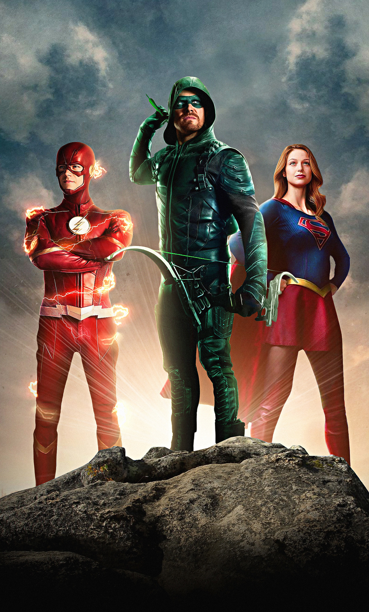 Supergirl And The Flash Wallpapers Wallpaper Cave
