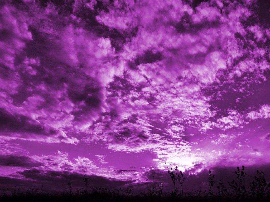 Wallpaper Purple Clouds