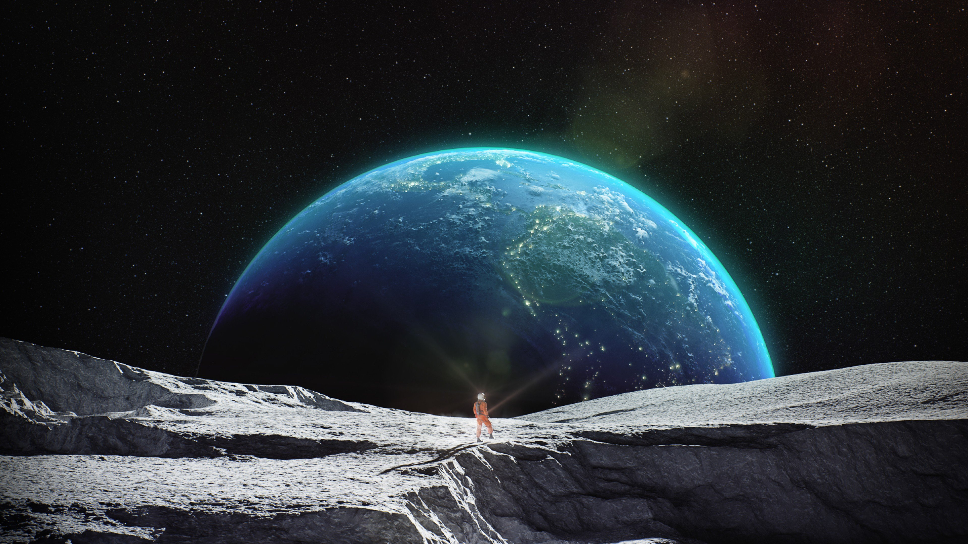 Earth And Moon Wallpapers Wallpaper Cave