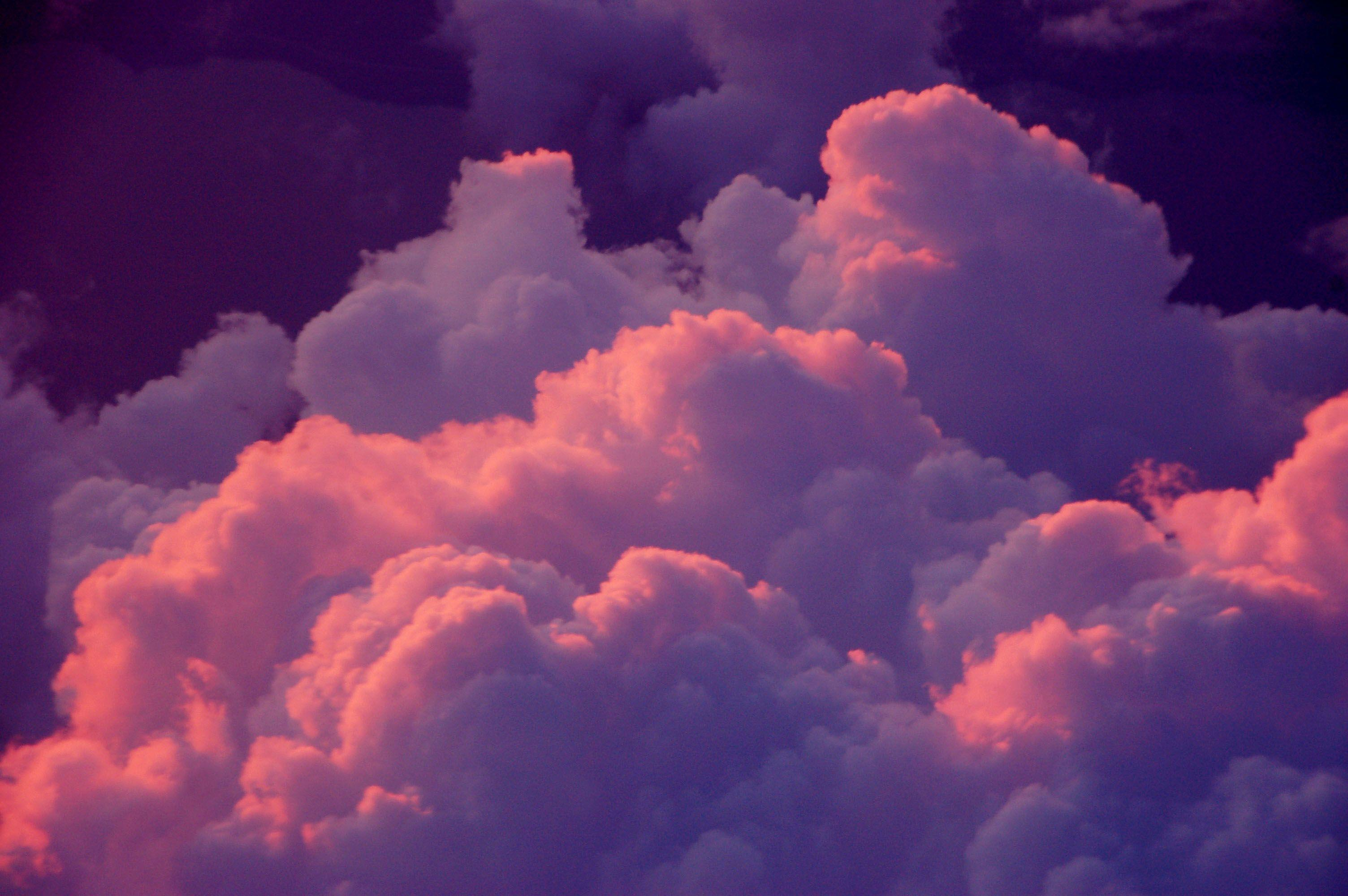 55+ Celestial Purple Clouds Wallpapers