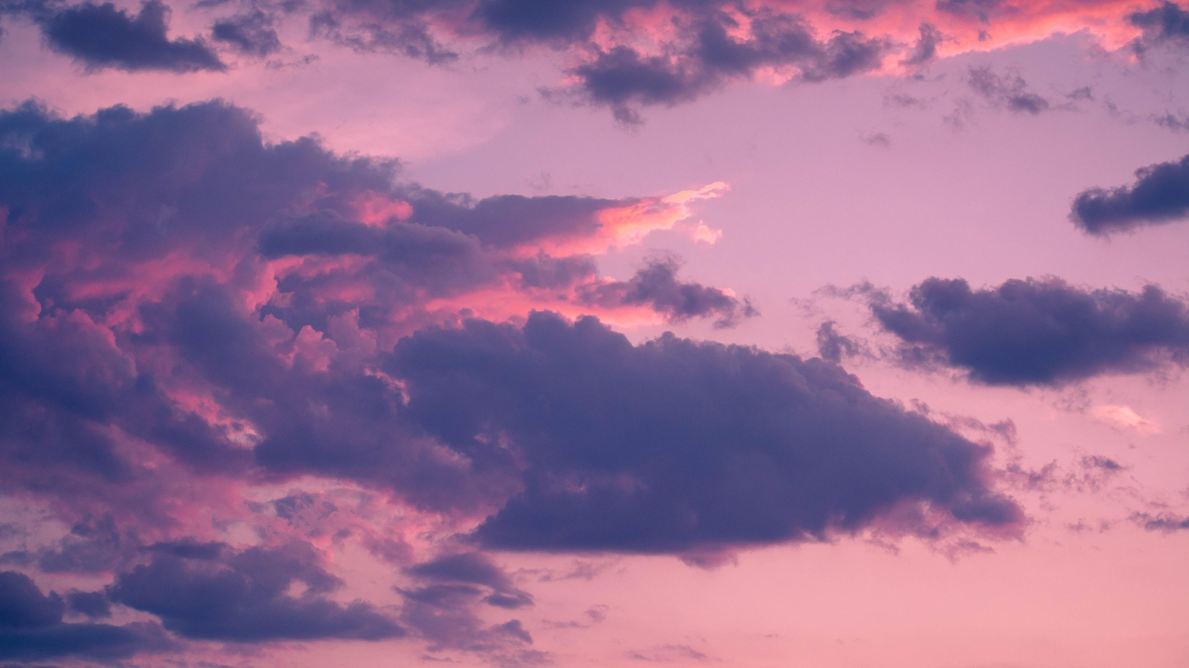 Download wallpapers 3840x2160 clouds, porous, sky, sunset 4k