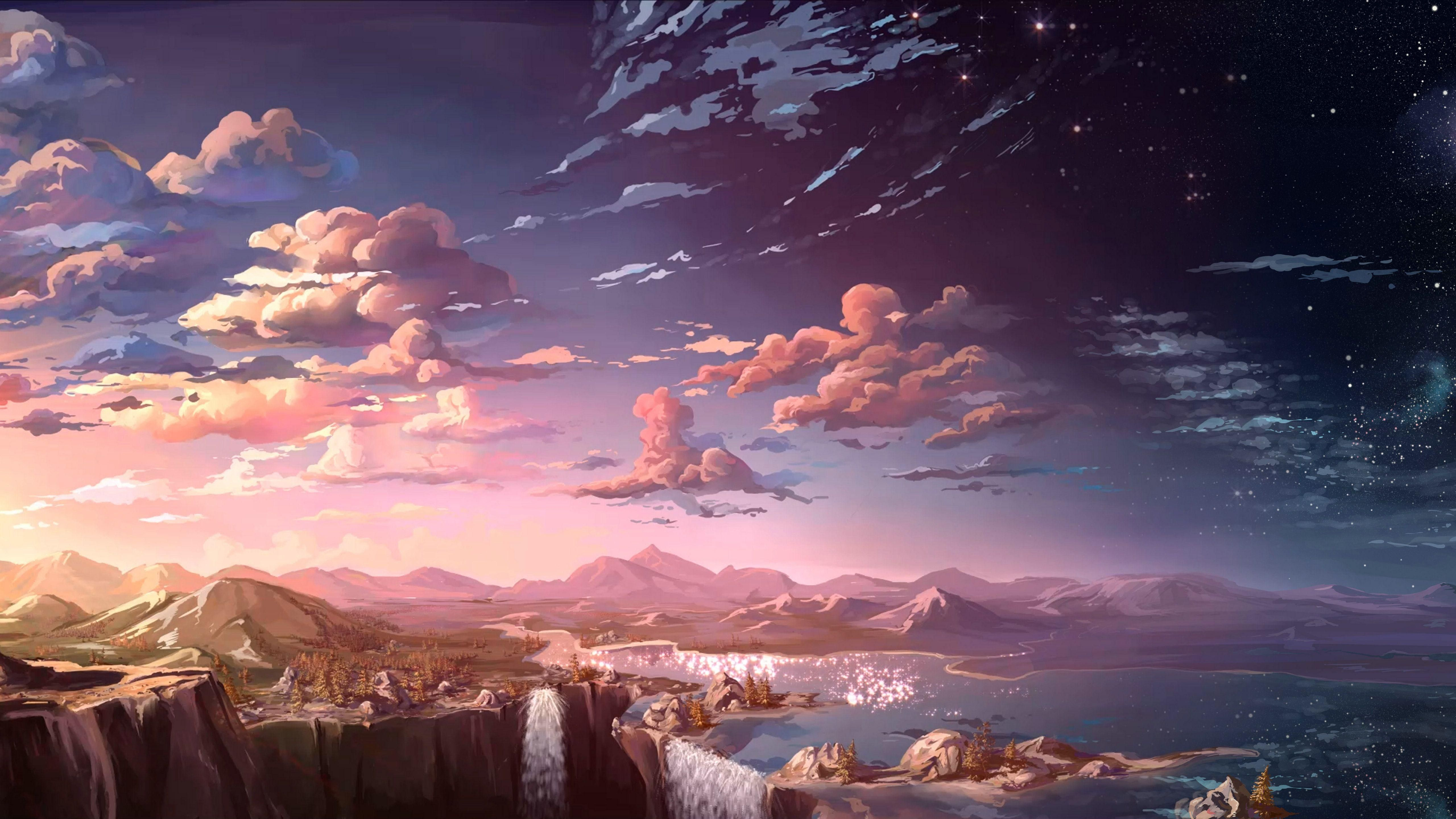 Anime Scenery Road Ps4 Wallpapers Wallpaper Cave