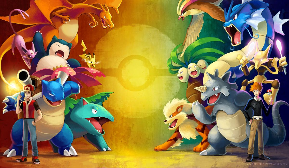 Starter Pokemon Red And Blue Wallpapers Wallpaper Cave