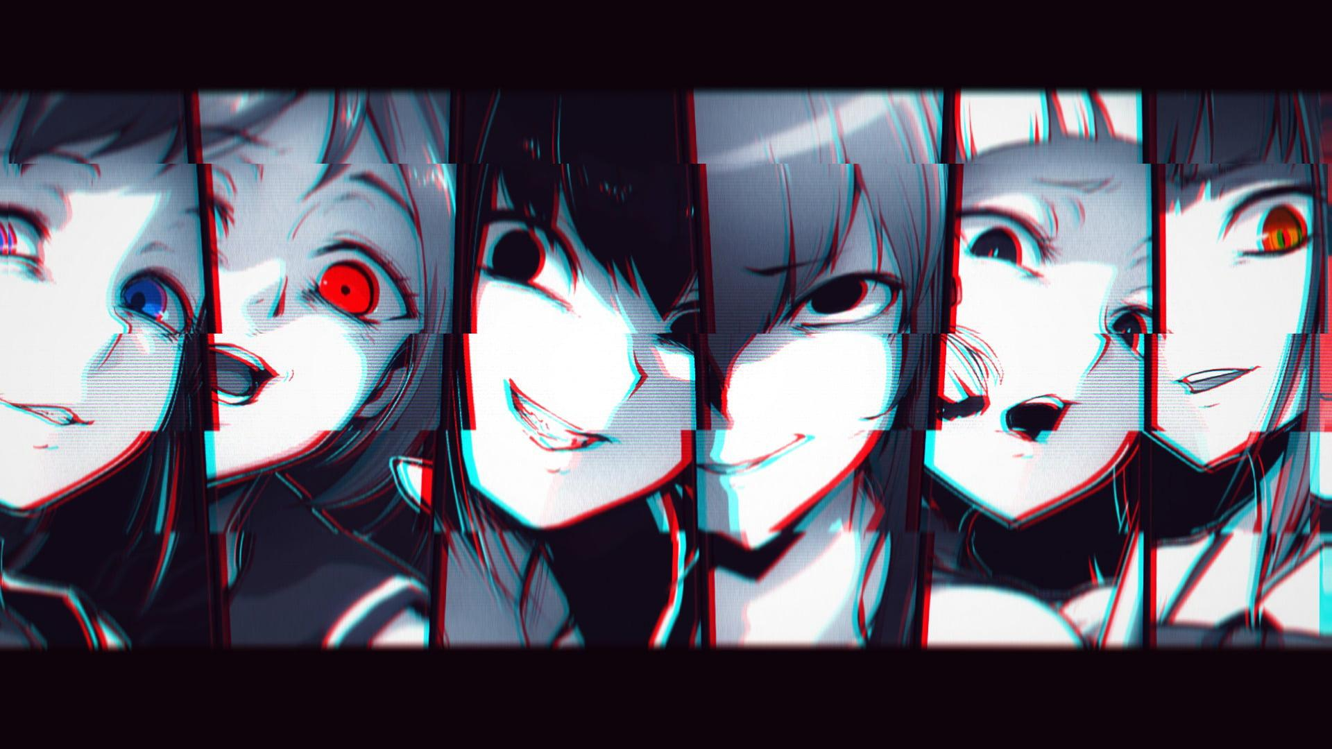 Anime Girl Glitch Wallpaper Gambar Anime Keren