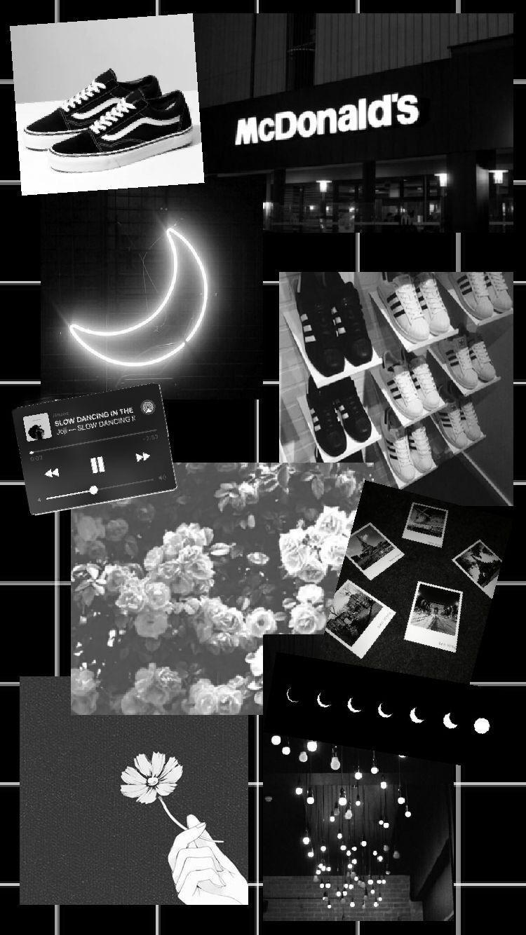 Black And Grey Aesthetic Collage Wallpapers Wallpaper Cave