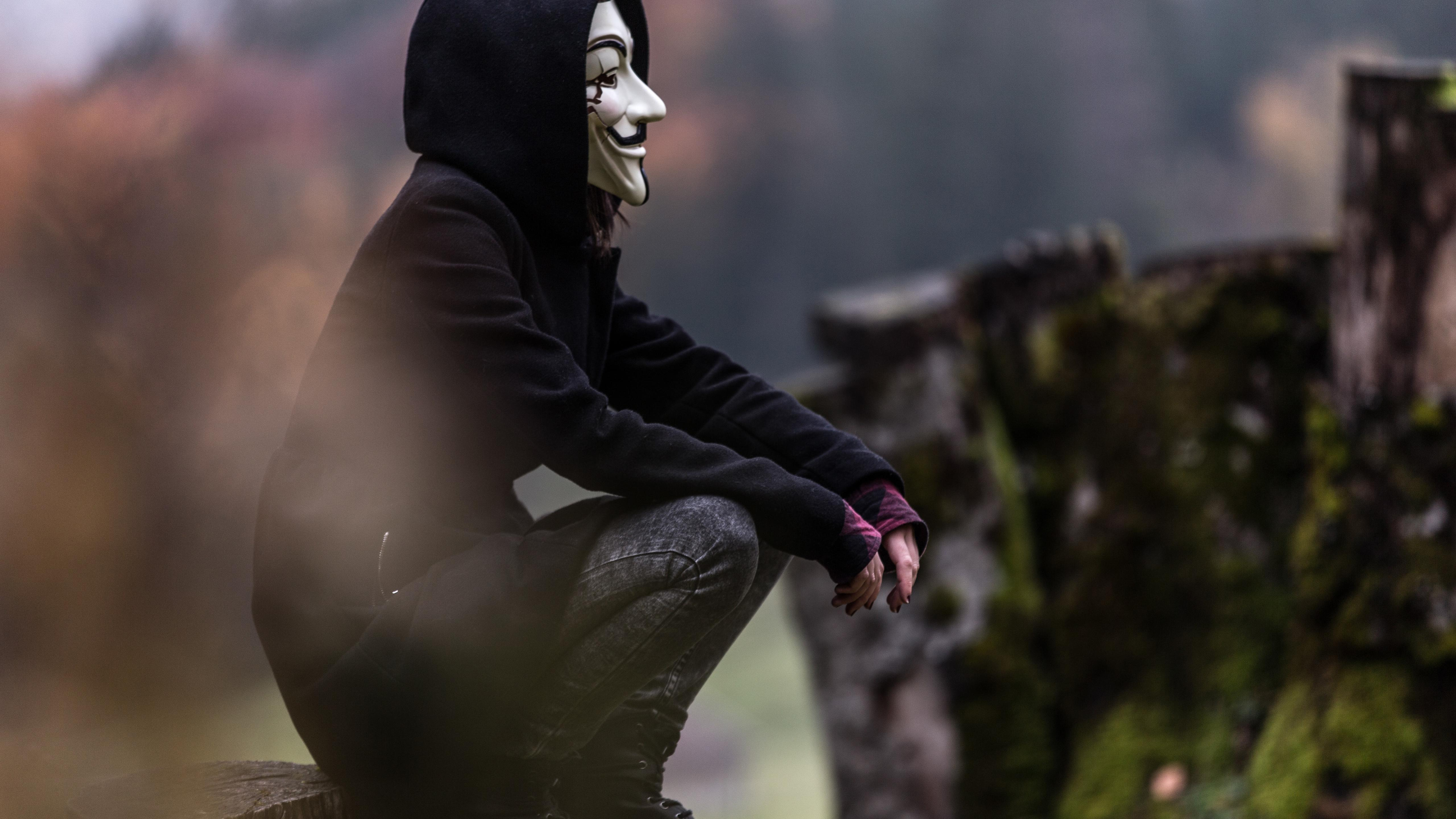 Anonymous Girl Wallpapers Wallpaper Cave
