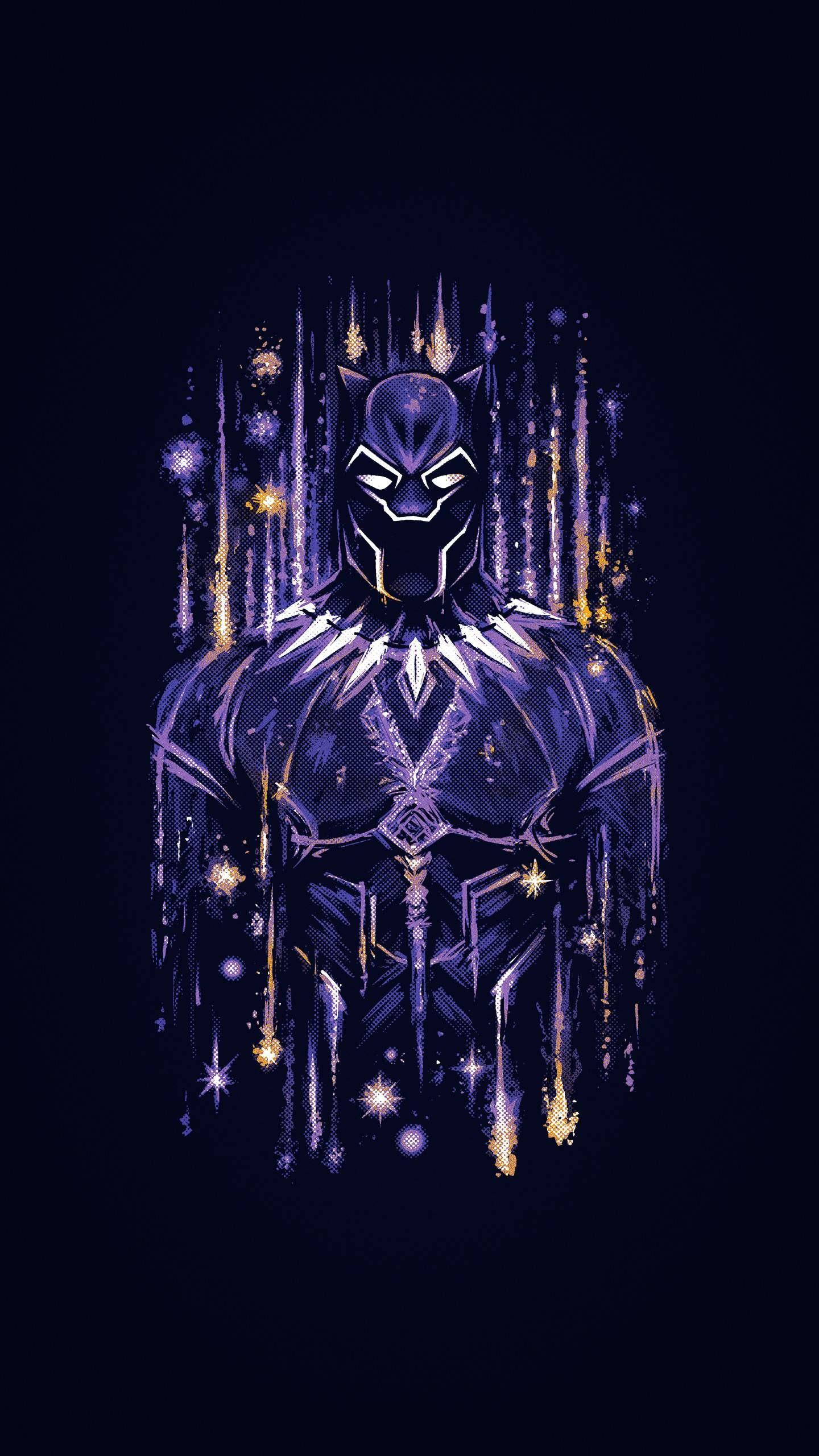 Neon Black Panther Wallpapers Wallpaper Cave