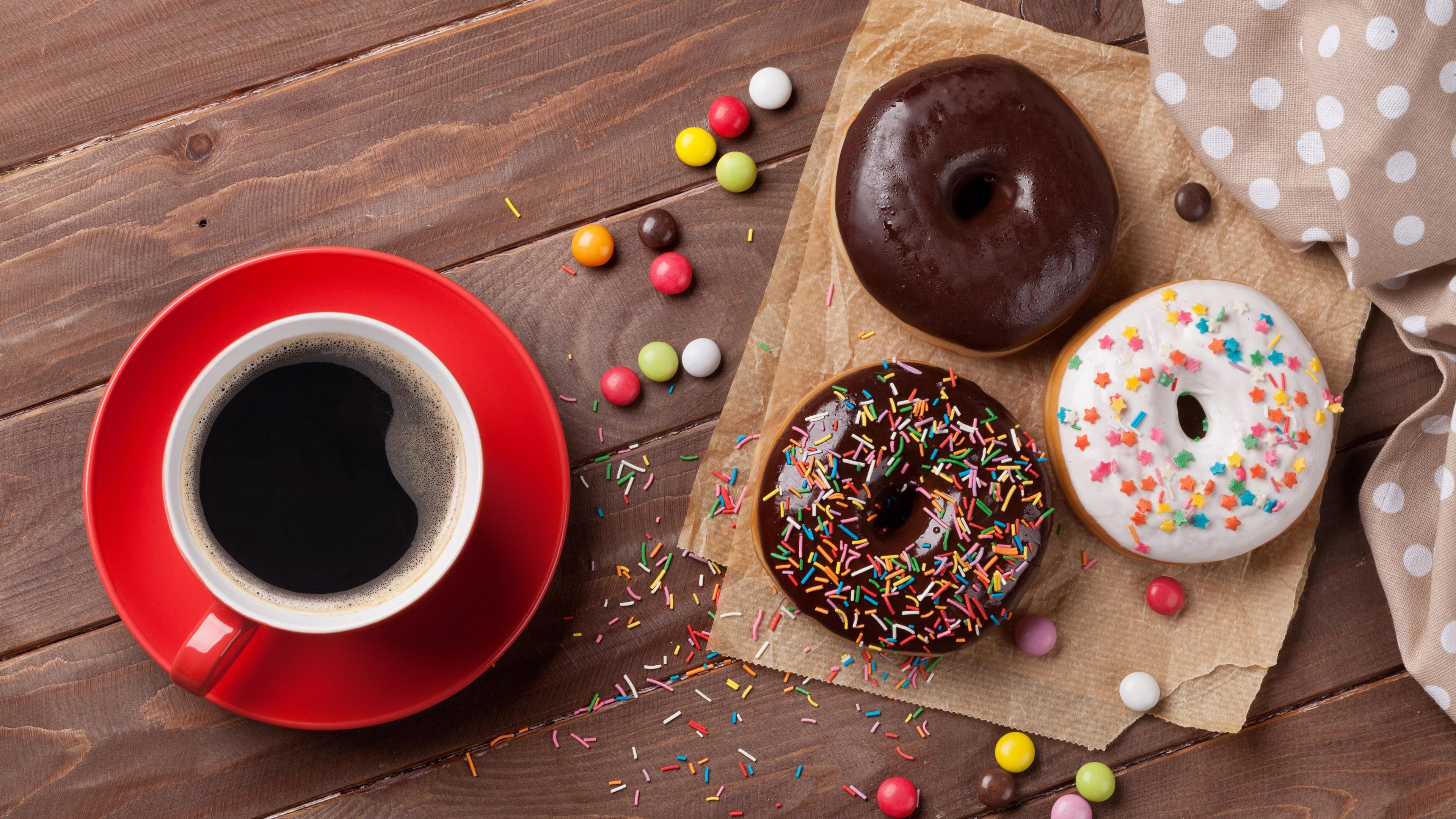 Coffee With A Donut Wallpapers - Wallpaper Cave