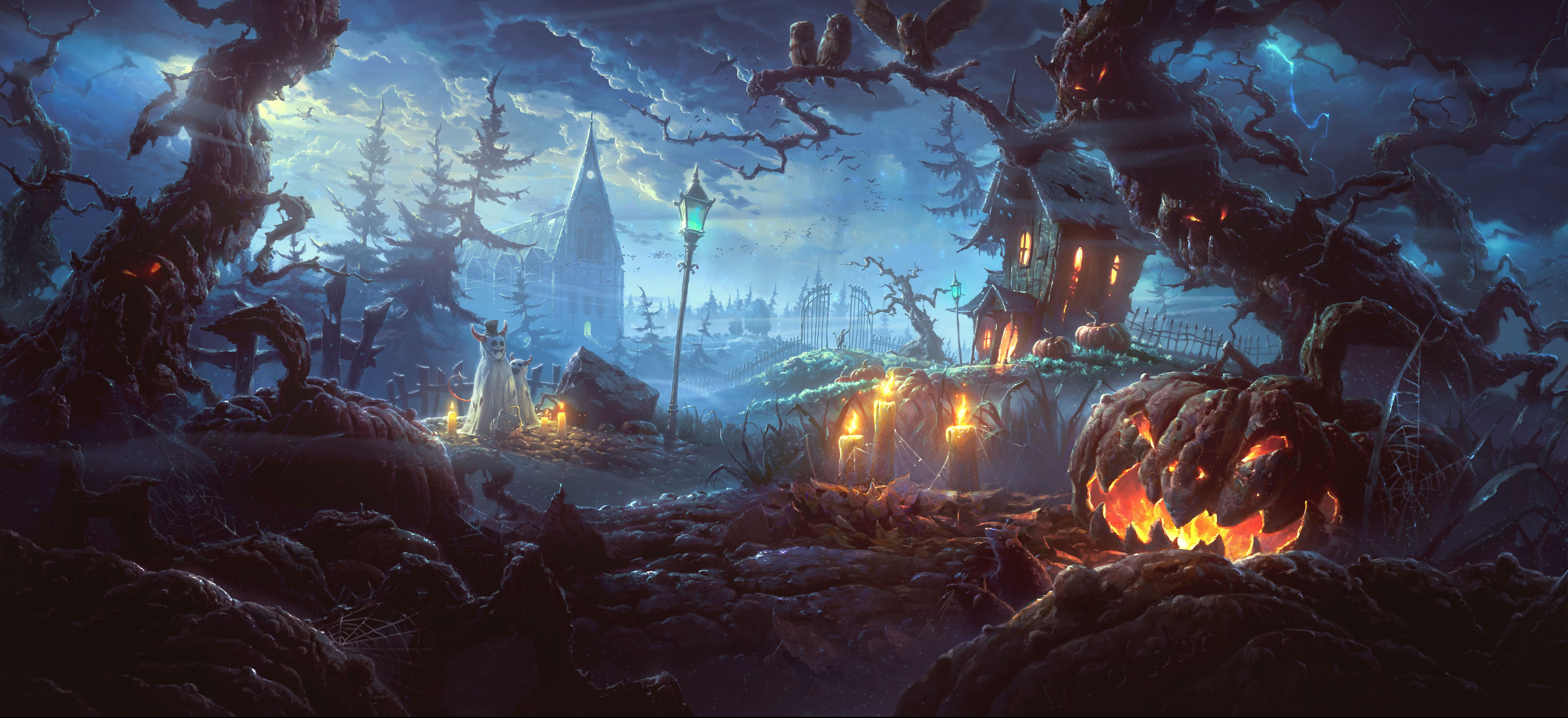 Scary Halloween 4k Wallpapers Wallpaper Cave