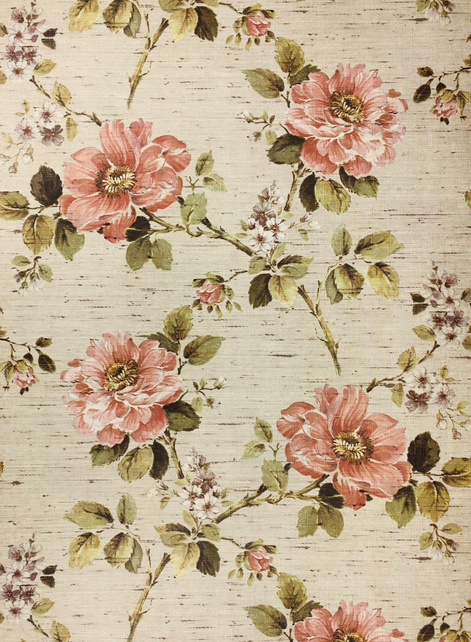 Vintage Floral Wallpapers Wallpaper Cave