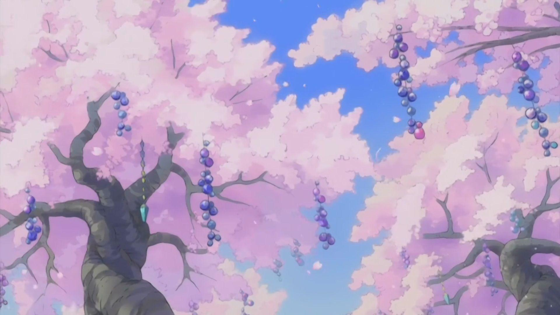 Pink Anime Scenery Wallpapers